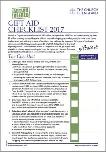 Gift Aid Checklist 2017