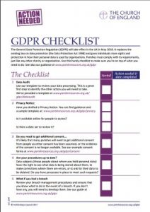 Data Protection Parishes And The GDPR Parish Resources - Free gdpr templates